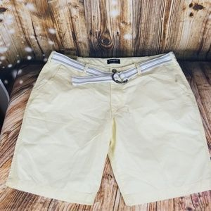 Express Classic fit at the knee yellow shorts